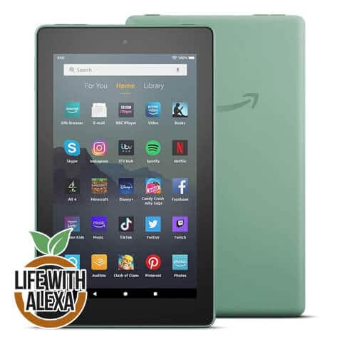 "Fire 7 Tablet | 7"" display, 16 GB, Sage"