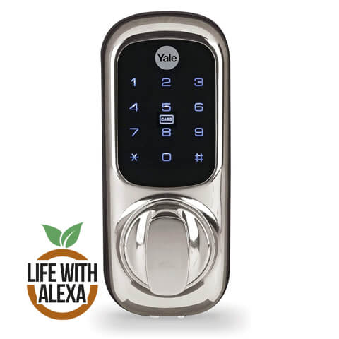 Yale Smart Living YD-01-CON-NOMOD-CH Keyless Connected Ready Smart Door Lock, Touch Keypad, works with Alexa, Chrome