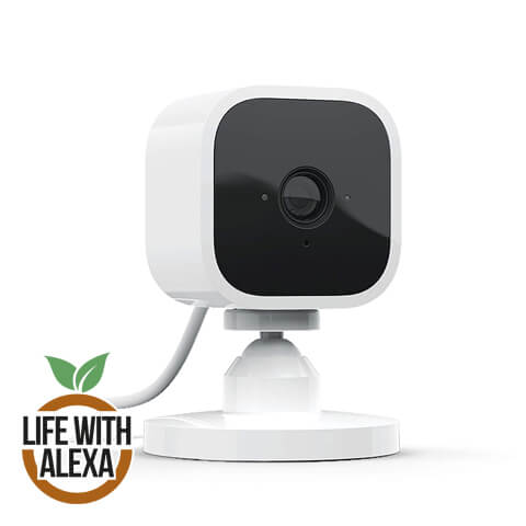 Introducing Blink Mini | Compact indoor plug-in smart security camera, 1080p HD video, motion detection, Works with Alexa