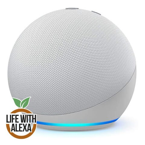All-new Echo Dot (4th generation) | Smart speaker with Alexa | Glacier White