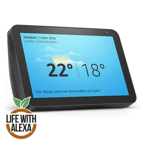 Echo Show 8 | Stay in touch with the help of Alexa, Charcoal fabric
